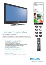 37PFL5522D/12 Philips Breitbild-Flat TV mit PIXEL PLUS HD - Prad