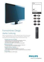 42PFL5603D/12 Philips Flat TV mit Pixel Plus HD - Prad
