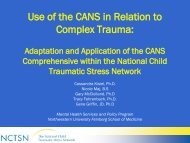 Use of the CANS in Relation to Complex Trauma: - Praed Foundation