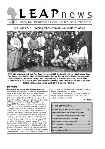 LEAPnews no. 5 – February 2003 - praesa