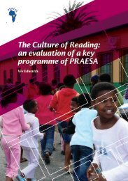 The Culture of Reading: an evaluation of a key programme of PRAESA