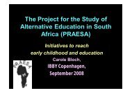Initiatives to Reach Early Childhood and Education - praesa