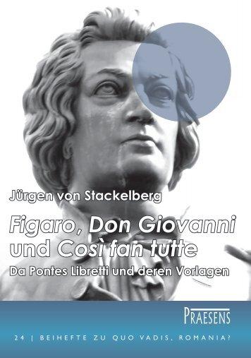 Figaro, Don Giovanni und Così fan tutte - Praesens Verlag