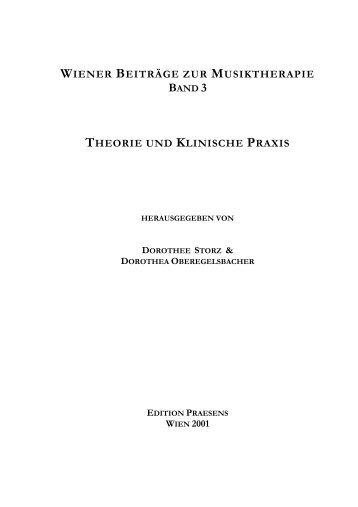 wiener beiträge zur musiktherapie band 3 theorie ... - Praesens Verlag