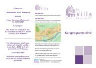 Kursprogramm 2012 - Diakonisches Werk Bamberg - Forchheim ev