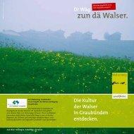 Walserweg - Kulturwege Schweiz