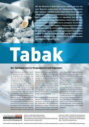 Tabak - Institut Suchtprävention