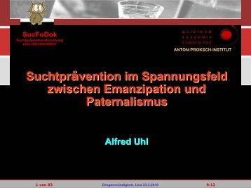 Vortrag Alfred Uhl - Institut Suchtprävention