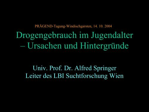 Vortrag Alfred Springer
