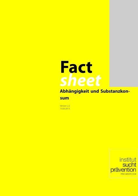 Abhängigkeit und Substanzkonsum - Institut Suchtprävention