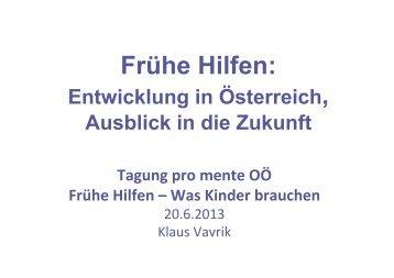 Frühe Hilfen in Österreich
