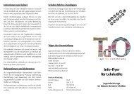Info-Flyer für Lehrkräfte