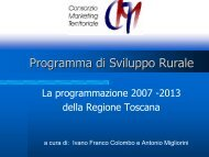 Programma di Sviluppo Rurale - Pragma Service