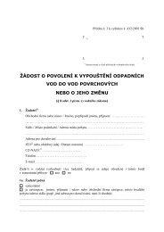 Žádost o povolení k vypouštění odpadních vod do vod ... - Praha 8