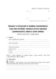 Žádost o povolení k odběru podzemních vod pro potřeby ... - Praha 8
