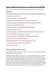Program, přibližný časový harmonogram a organizační ... - Praha 8