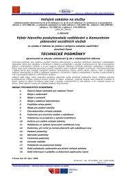 technické podmínky - Fondy EU v Praze