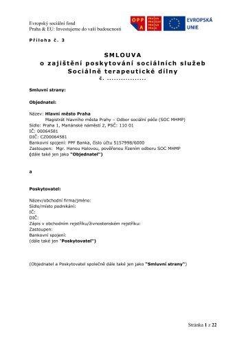 Smlouva - STD - Fondy EU v Praze