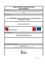 Výzva - jednací řízení bez uveřejnění - Fondy EU v Praze