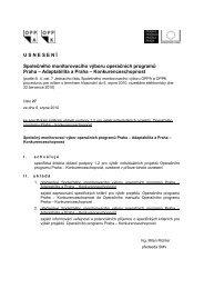 USNESEN Í Společného monitorovacího výboru ... - Fondy EU v Praze