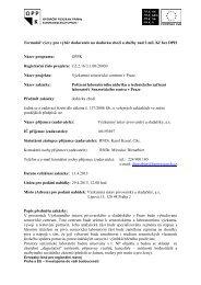 Formulář výzvy pro výběr dodavatele na ... - Fondy EU v Praze