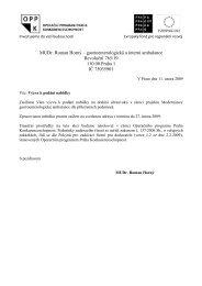 MUDr. Roman Horný – gastroenterologická a ... - Fondy EU v Praze