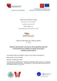 Zadávací dokumentace pro veřejnou zakázku č ... - Fondy EU v Praze