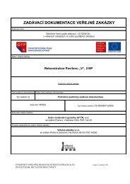 ZADÁVACÍ DOKUMENTACE VEŘEJNÉ ZAKÁZKY - Fondy EU v Praze