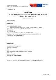 Smlouva - Domy na půl cesty - Fondy EU v Praze
