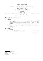 Usnesení Zastupitelstva HMP - Fondy EU v Praze