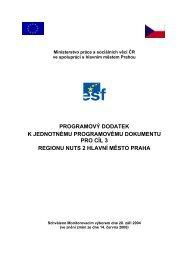Programový dodatek JPD 3 - Fondy EU v Praze