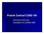 Evaluation of Certified Staff Presentation 1-7-13 - Prairie Central ...