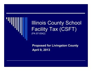 Illinois County School Facility Tax (CSFT) - Prairie Central CUSD