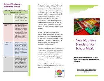 New Nutrition Standards for School Meals - Flyer