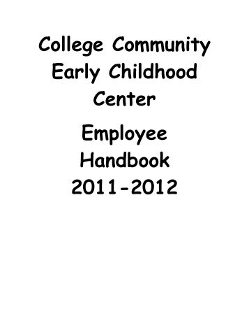 1 Maine Winter Sports Center Employee Handbook And Policy Manual