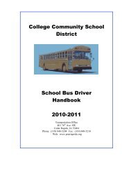 College Community School District School Bus Driver Handbook ...