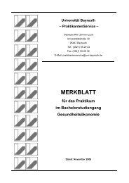 MERKBLATT - Praktikantenservice - Universität Bayreuth