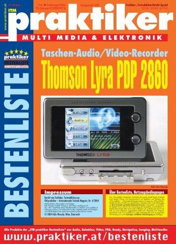 Thomson Lyra PDP 2860: Taschen-Audio/Video ... - Praktiker.at