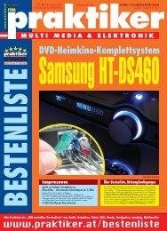 Samsung HT-DS460: DVD-Heimkino-Komplettsystem ... - Praktiker.at