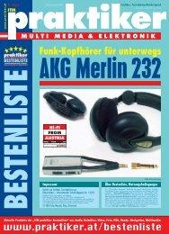 AKG Merlin 232: Funk-Kopfhörer für unterwegs - ITM ... - Praktiker.at