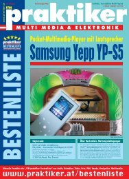 Samsung Yepp YP-S5: Pocket-Multimedia-Player mit ... - Praktiker.at