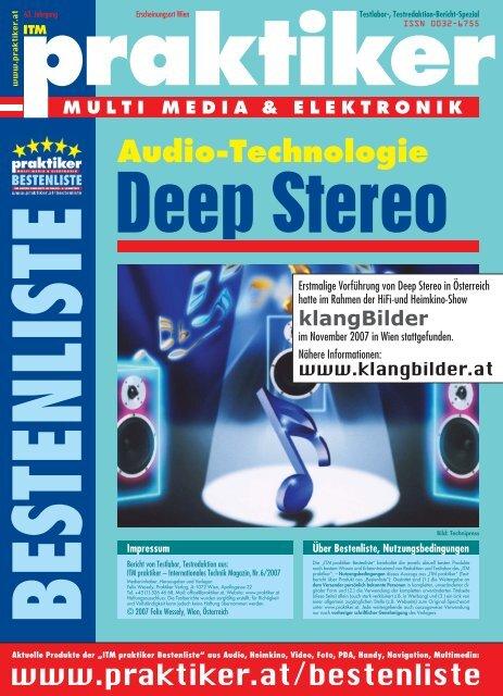 """Testbericht Deep Stereo aus """"ITM praktiker"""" Nr. 6 / 2007 - Praktiker.at"""
