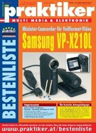 Samsung VP-X210L: Miniatur-Camcorder für ... - Praktiker.at