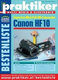 Canon HF10: Experten-Mini-Full-HD-Camcorder - ITM ... - Praktiker.at