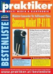 Samsung Miniket VP-X110L: Miniatur-Camcorder für ... - Praktiker.at