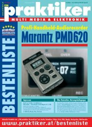 Marantz PMD620: Profi-Handheld-Audiorecorder - ITM ... - Praktiker.at