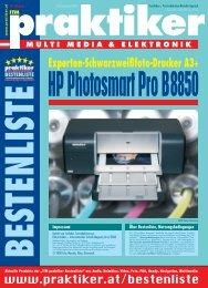 Testbericht HP Photosmart Pro B8850 aus