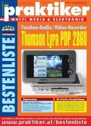 Thomson Lyra PDP 2860: Taschen-Audio/Video ... - Praktiker.at