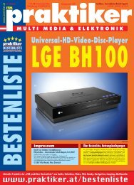 LGE BH100: Universal-HD-Video-Disc-Player - ITM ... - Praktiker.at