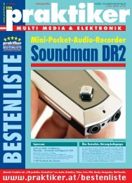 Testbericht Soundman DR2 aus - Praktiker.at